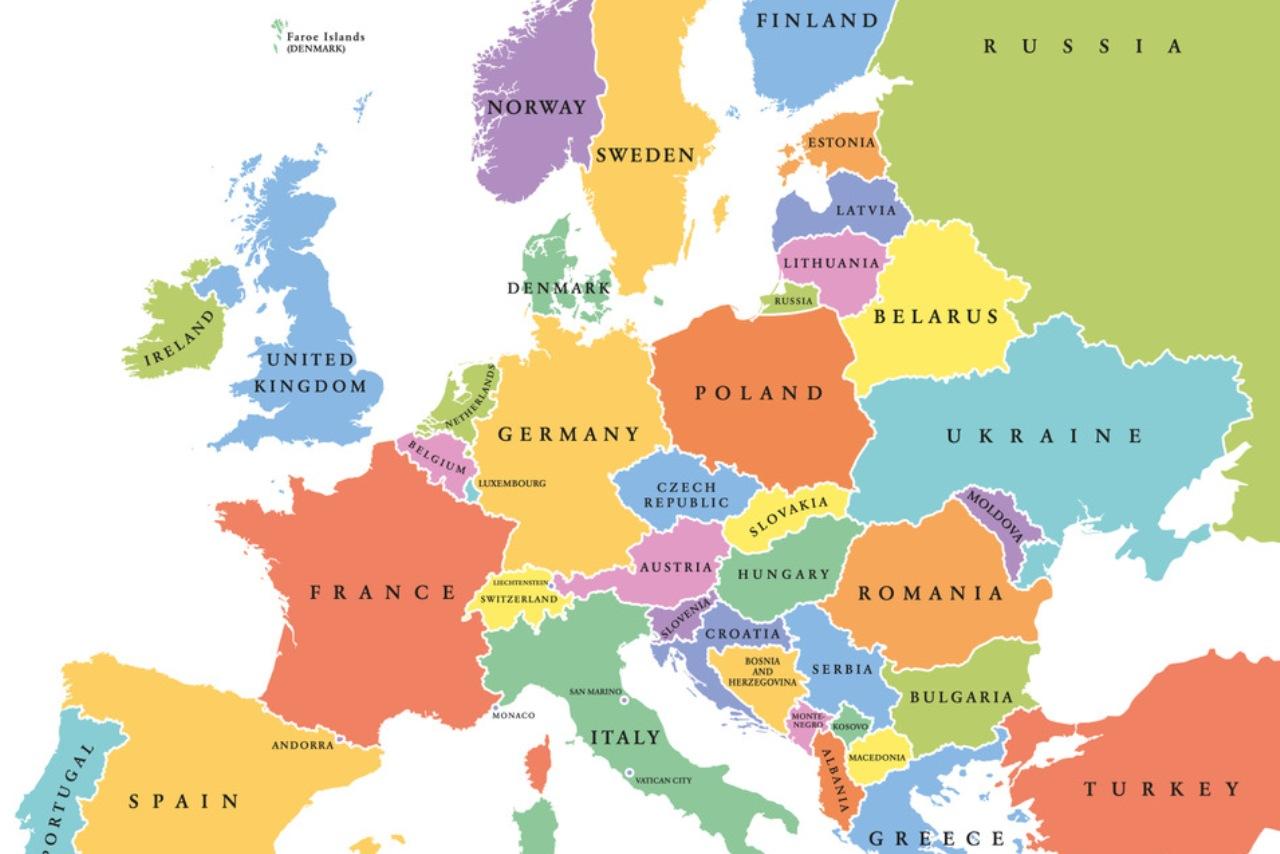 Harta țărilor Europei